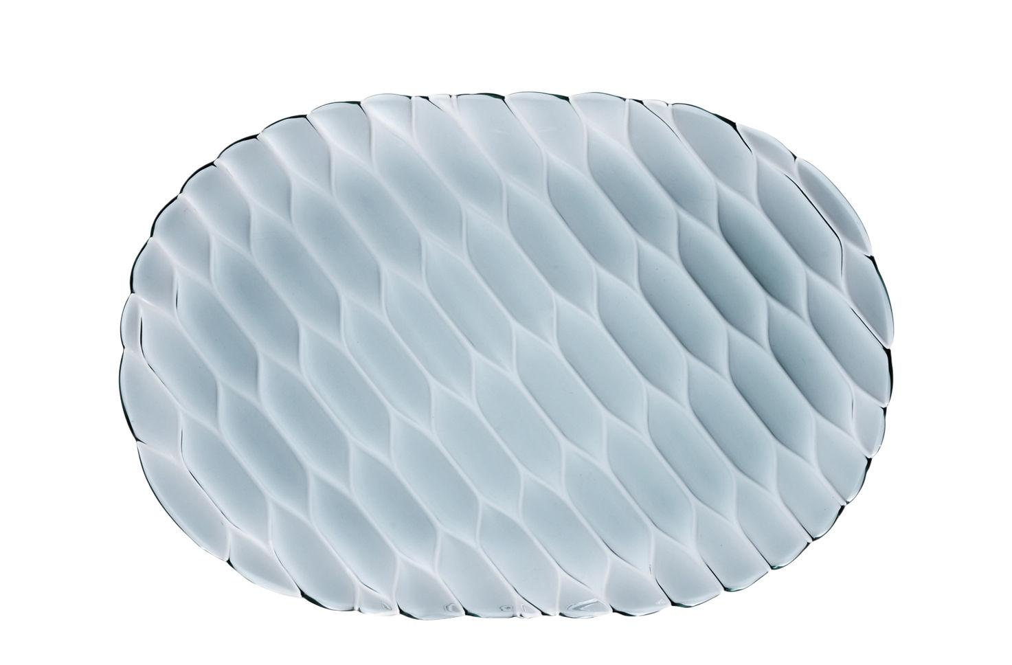 Arts de la table - Plateaux - Plateau Jellies Family / 36 x 25 cm - Kartell - Bleu ciel - Technopolymère thermoplastique