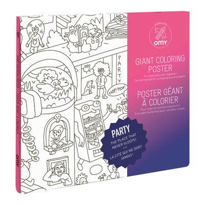 Déco - Pour les enfants - Poster à colorier Party / 100 x 70 cm - OMY Design & Play - Party - Papier recyclé