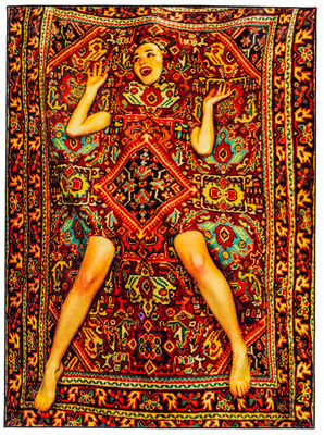 Decoration - Rugs - Toiletpaper - Lady on Carpet rectangular Rug - 194 x 280 cm by Seletti - Lady on carpet - Cotton, Polyester