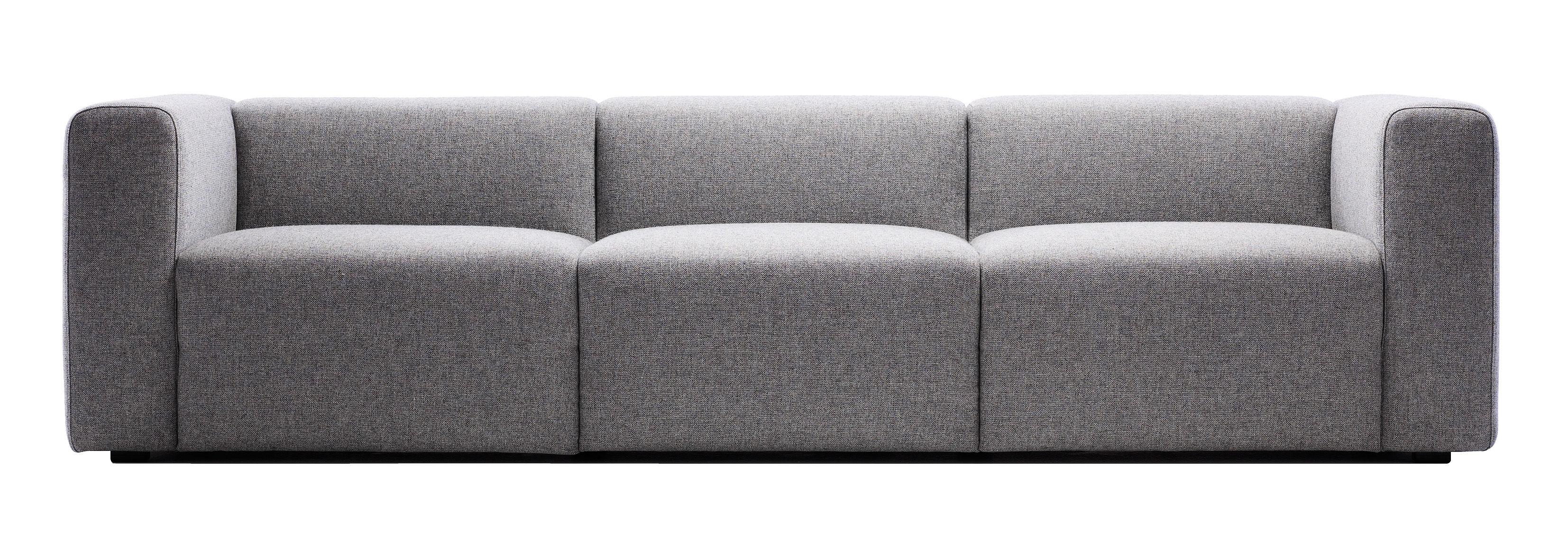 Möbel - Sofas - Mags Sofa 3-Sitzer - L 266 cm - Hay - Hellgrau - Steelcut TrioStoff - Kvadrat-Gewebe