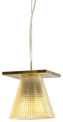 Illuminazione - Lampadari - Sospensione Light-Air - / Paralume plastico scolpito di Kartell - Ambra - Tecnopolimero termoplastico