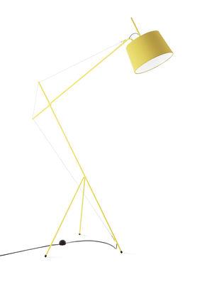 Leuchten - Stehleuchten - Elisabeth Stehleuchte / H 158 cm - Hartô - Zitronengelb - Baumwolle, Stahl