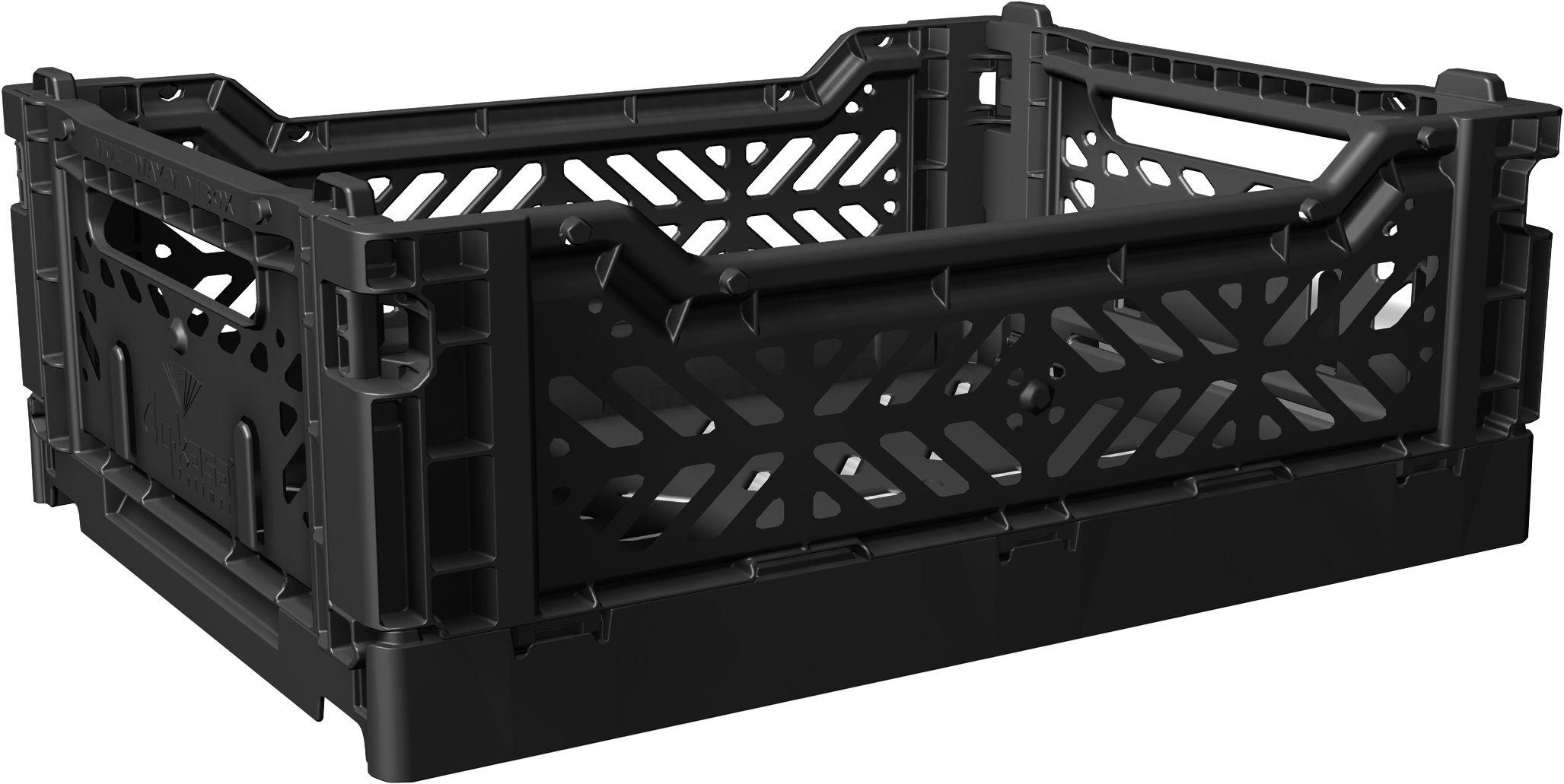 Accessories - Desk & Office Accessories - Midi Box Storage rack - Foldable L 40 cm by Surplus Systems - Pop Corn - Black - Polypropylene