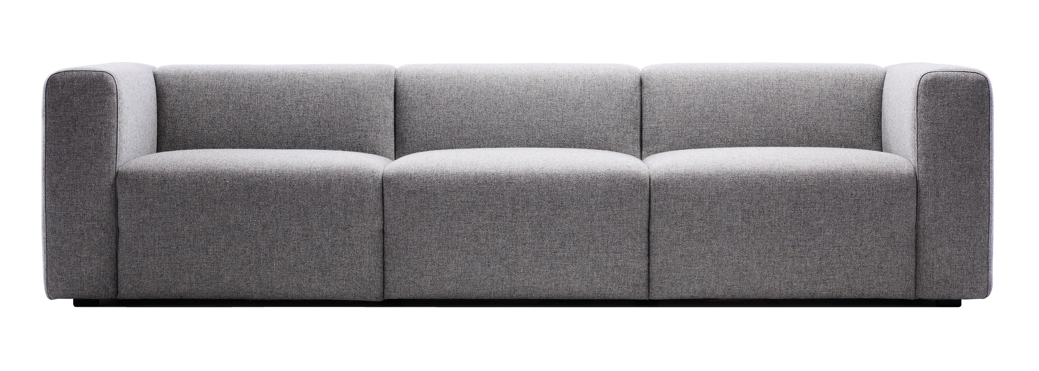 Furniture - Sofas - Mags Straight sofa - 3 seats / L 266 cm -Steelcut trio fabric by Hay - Light grey - Kvadrat fabric