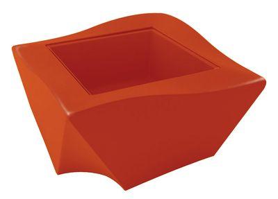 Table basse Kami Ni version laquée - Slide laqué orange en verre