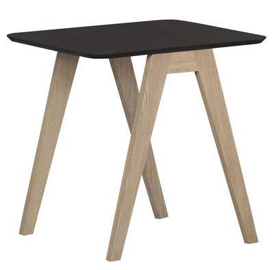 Table basse Monk / 50 x 50 cm - Prostoria Ltd noir/bois naturel en bois