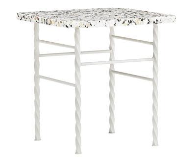 Mobilier - Tables basses - Table basse Terra Small / 40 x 40 x H 42 cm - Terrazzo - Normann Copenhagen - Beige - Acier laqué époxy, Terrazzo