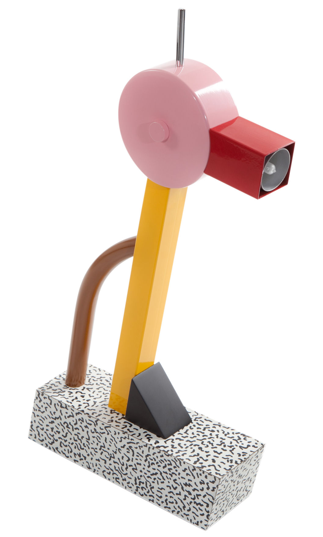 Lighting - Table Lamps - Tahiti Table lamp - by Ettore Sottsass / 1981 by Memphis Milano - Multicoloured - Lacquered metal, Plastic laminate