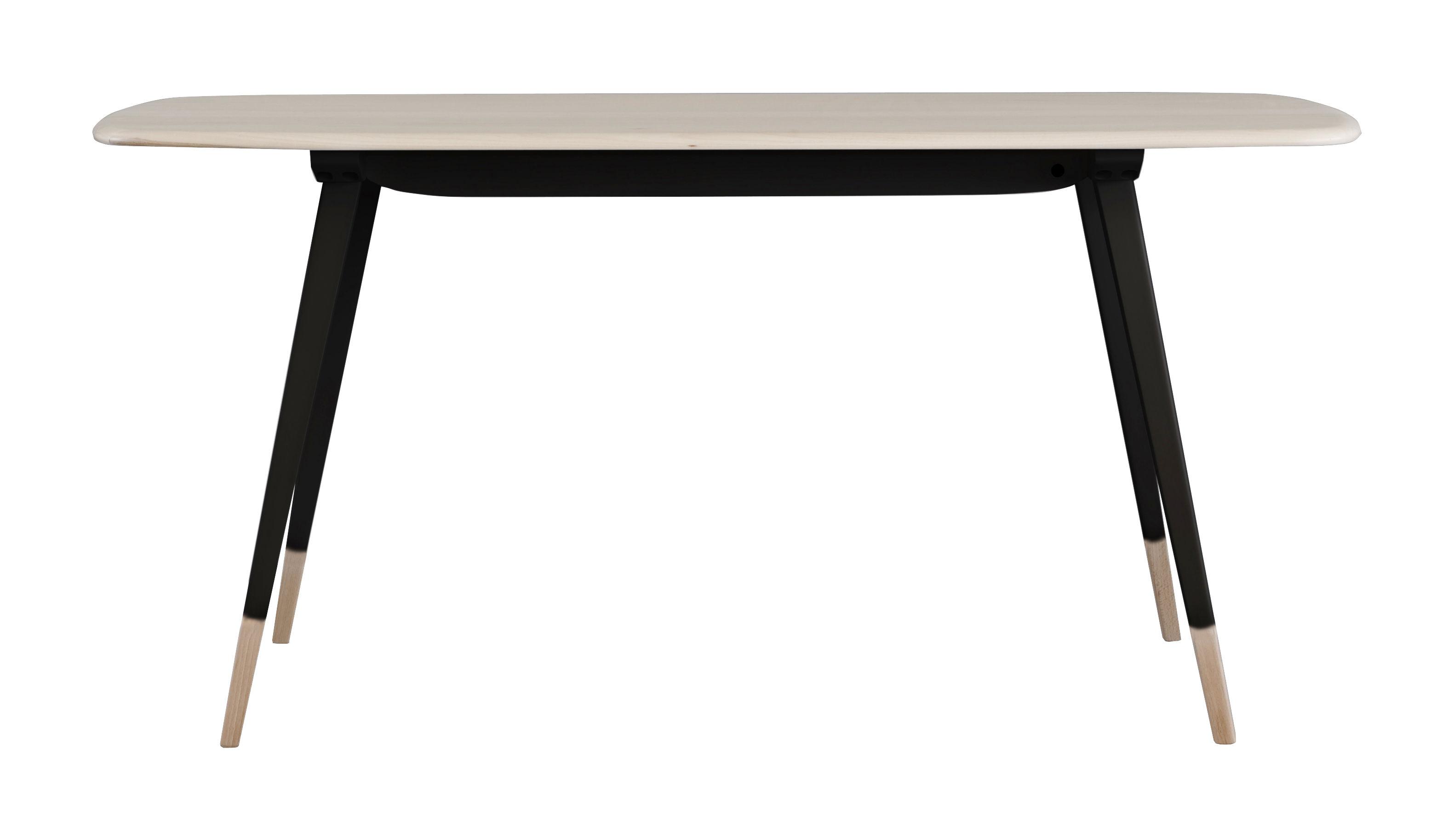 Table rectangulaire Plank / 152 x 76 cm - Réédition 1950' - Ercol noir/bois naturel en bois