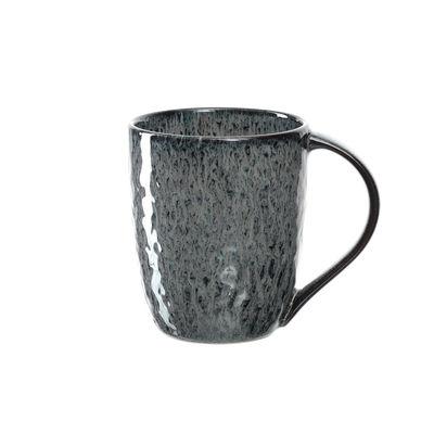 Tavola - Tazze e Boccali - Tazza Matera - / Gres - 430 ml di Leonardo - Antracite - Gres smaltato