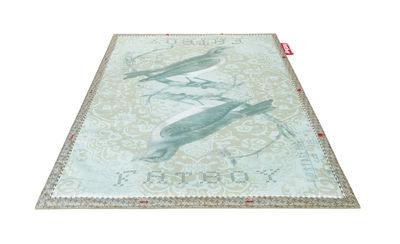Non Flying Carpet Teppich / Tweet Tweet - 180 x 140 cm - Fatboy - Blaugrün