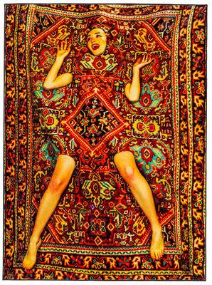 Toiletpaper - Femme Teppich / 194 x 280 cm - Seletti - Bunt