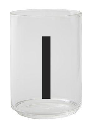 Verre A-Z / Verre borosilicaté - Lettre I - Design Letters transparent en verre