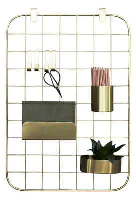 Decoration - Children's Home Accessories - Archal Wall organisers - / With 7 accessories by ENOstudio - Brass - Acier finition laiton