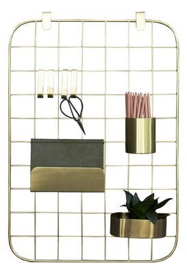 Dekoration - Für Kinder - Archal Wand-Organizer / mit 7 Accessoires - ENOstudio - Messing - Acier finition laiton
