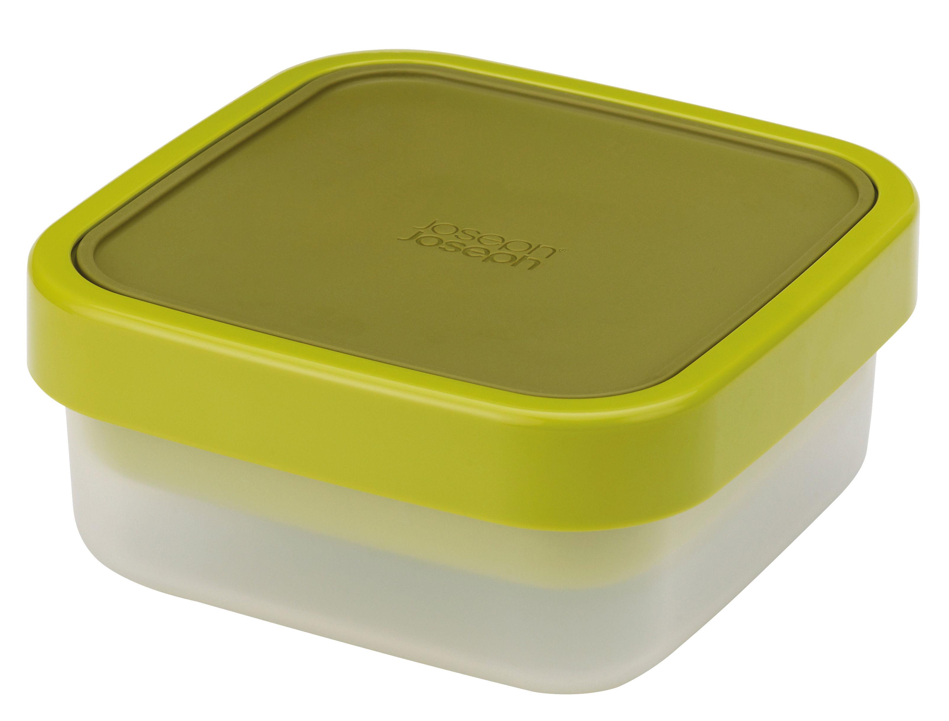 Kitchenware - Kitchen Storage Jars - GoEat Airtight box - Salad box - 2 stackable boxes by Joseph Joseph - Green - Polypropylene, Silicone