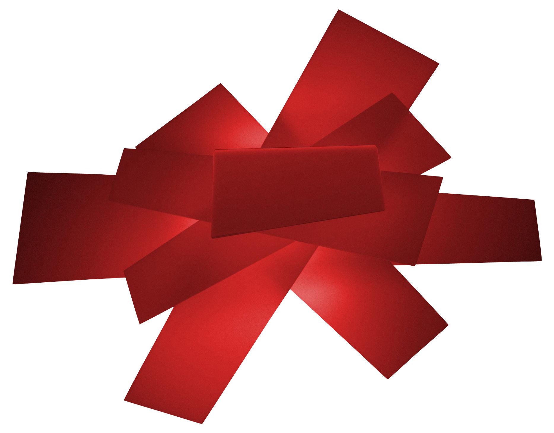 Luminaire - Appliques - Applique Big Bang / Plafonnier - Foscarini - Rouge & blanc - Méthacrylate