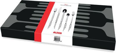 Tischkultur - Bestecke - Dry Besteckgarnitur / 6 personnes  : 30-teilig - Alessi - Edelstahl, poliert - polierter rostfreier Stahl