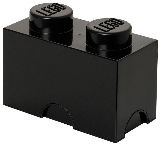 Déco - Pour les enfants - Boîte Lego® Brick / 2 plots - Empilable - ROOM COPENHAGEN - Noir - Polypropylène