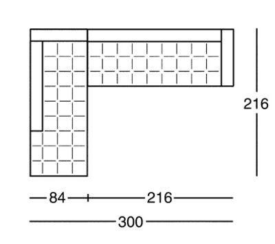 nouveau style 950b6 87010 Canapé d'angle Kilt / cuir - L 300 cm - Zanotta
