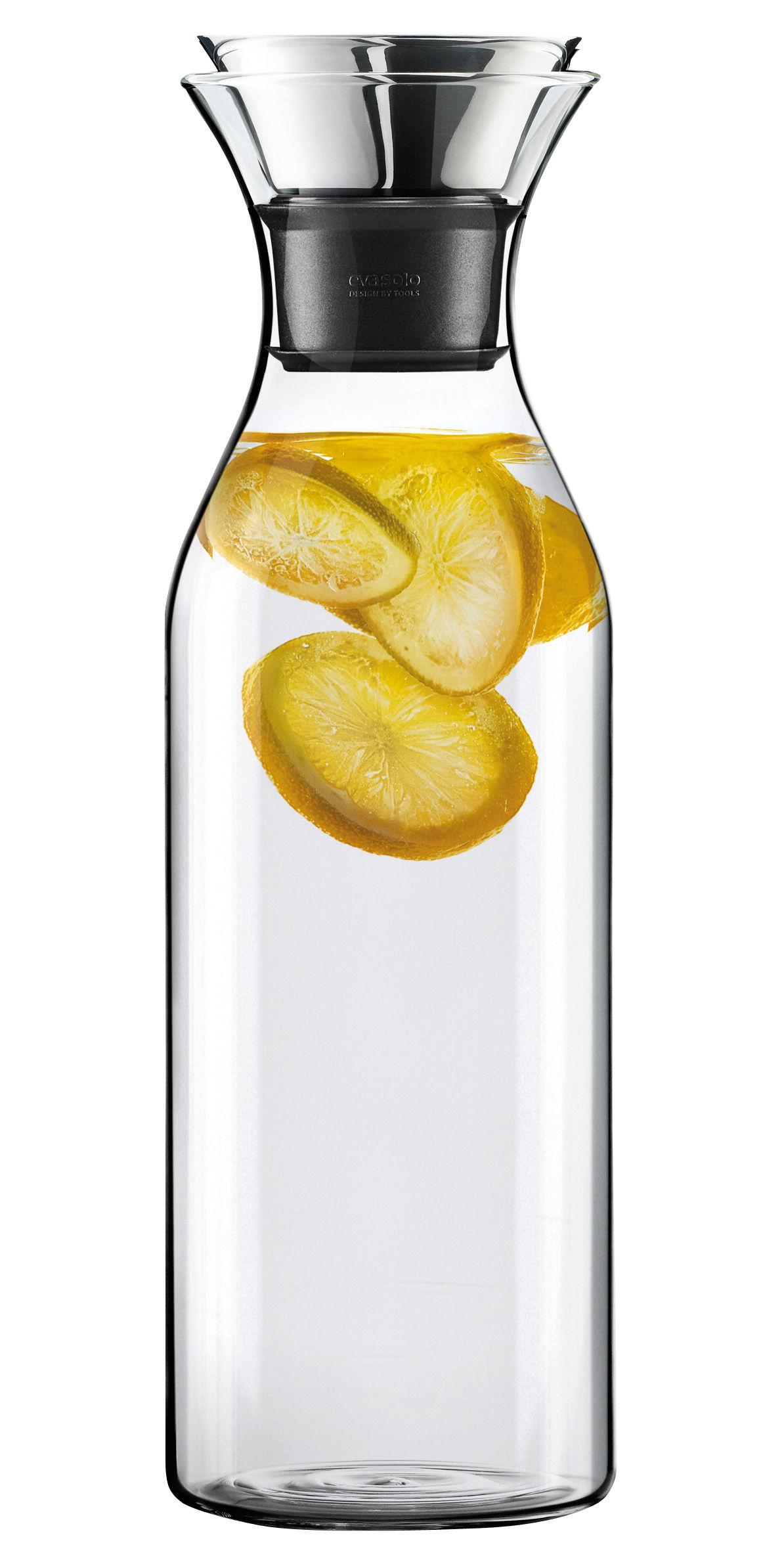Arts de la table - Carafes et décanteurs - Carafe Stoppe-goutte 1,4 L / Sans fourreau - Eva Solo - Transparent - Verre