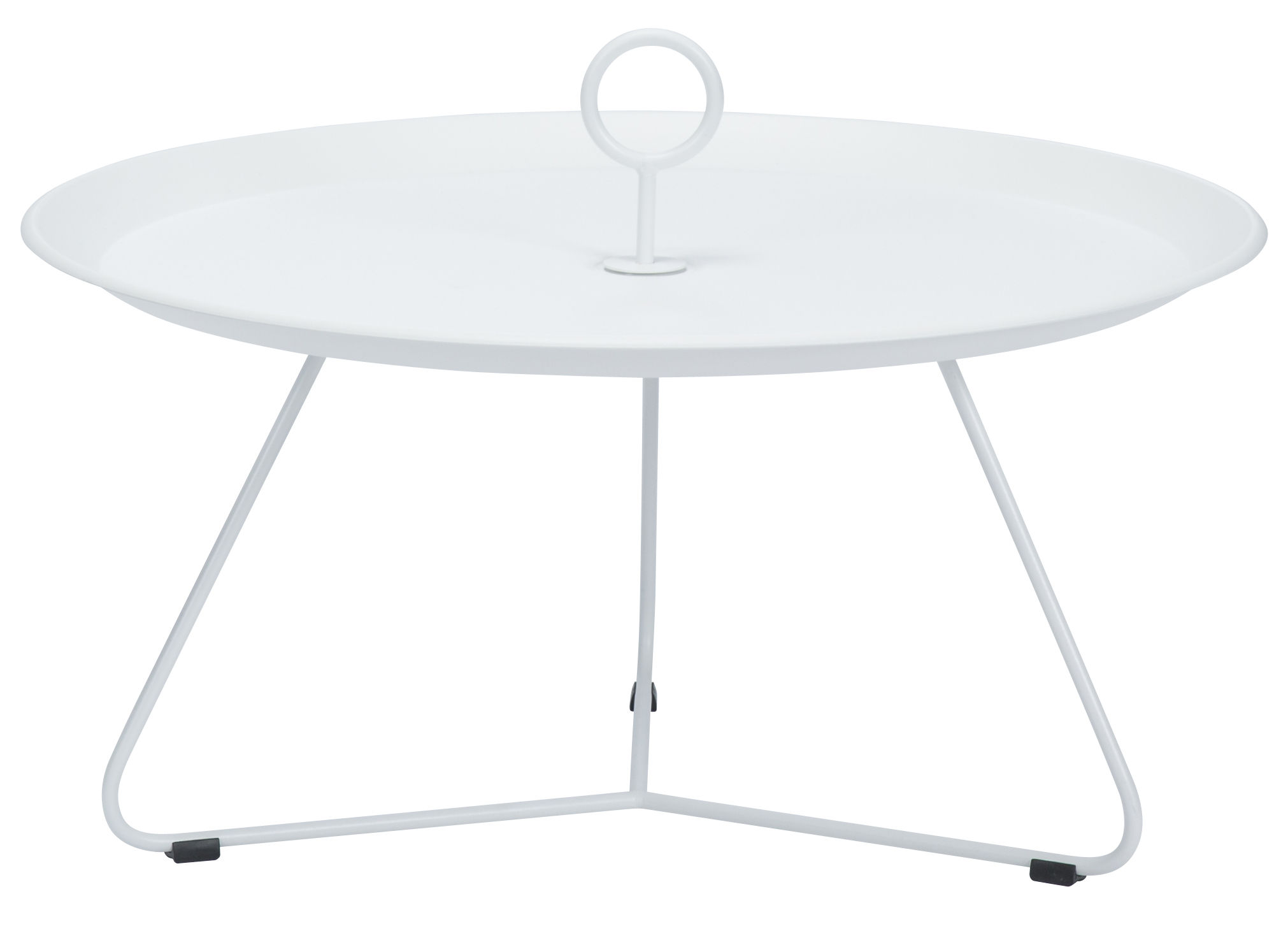 Furniture - Coffee Tables - Eyelet Large Coffee table - Ø 80 x H 35 cm by Houe - White - Epoxy lacquered metal