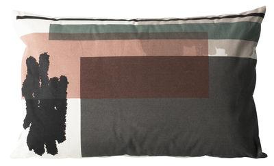 Déco - Coussins - Coussin Colour Block n°4 /Large - 60 x 40 cm - Ferm Living - Gris, Vert, Rose - Coton