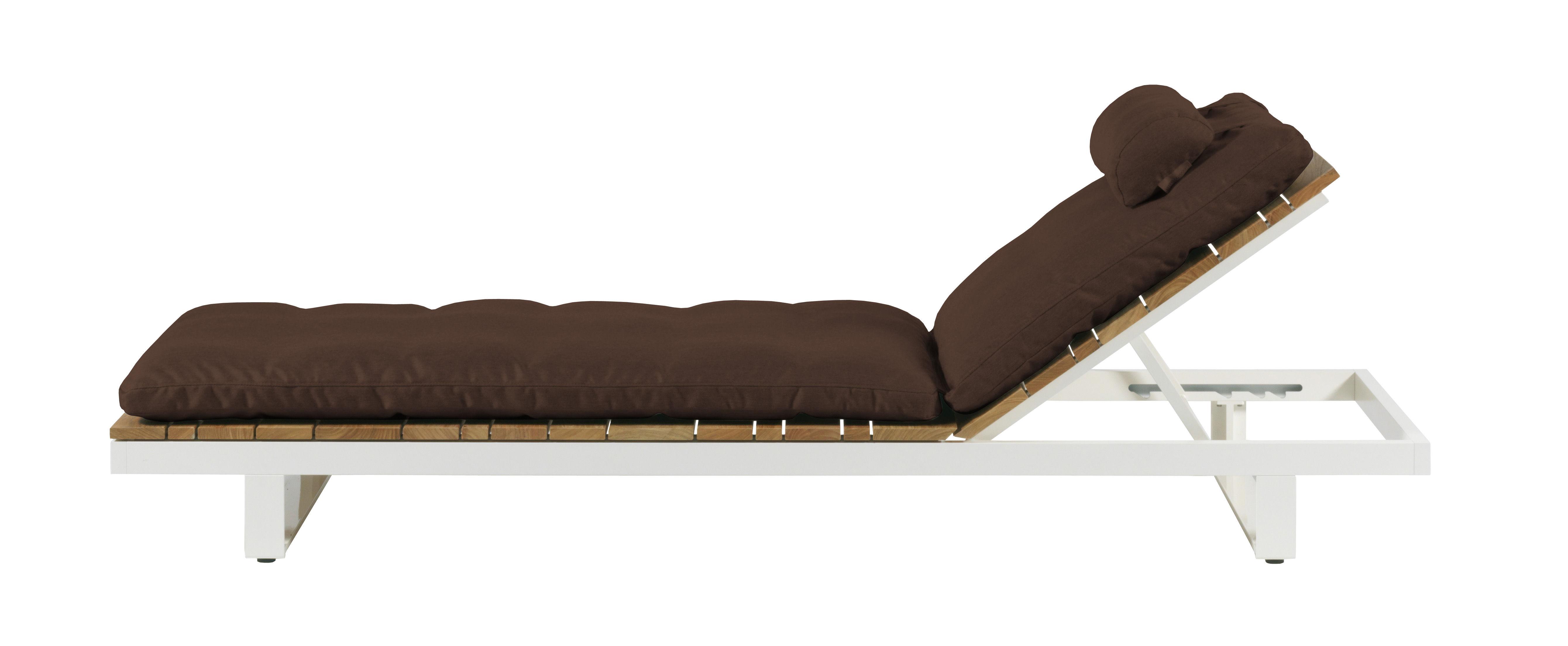 coussin pour chaise longue viteo coussin chocolat l. Black Bedroom Furniture Sets. Home Design Ideas