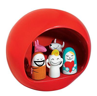 Decoration - Funny & surprising - Presepe Crib - Crib by A di Alessi - Red - China