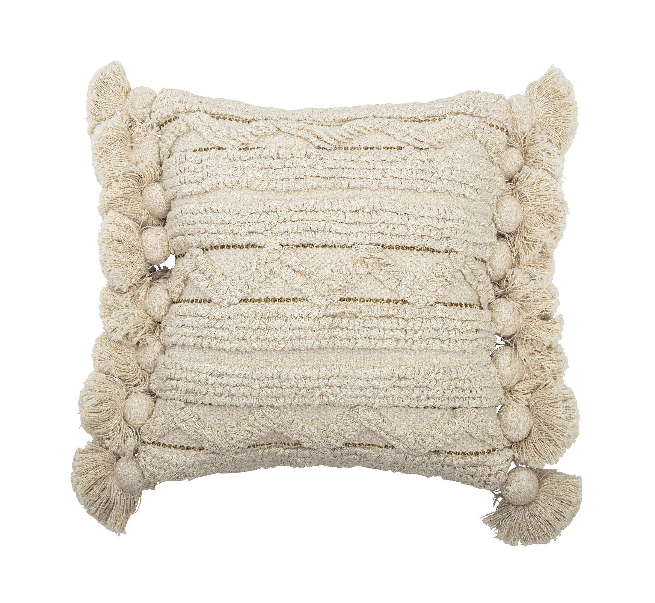 Decoration - Cushions & Poufs - Nature Cushion - / Woven 40 x 40 cm by Bloomingville - Ecru - Cotton