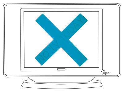 Déco - Tendance humour & décalage - Décoration No TV Today / Croix ventouse - Domestic - Turquoise - Silicone