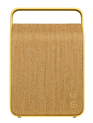 Enceinte Bluetooth Oslo / Sans fil - Tissu - Vifa jaune sable en tissu