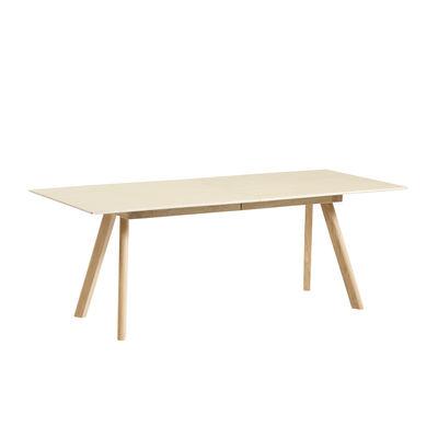Furniture - Dining Tables - CPH 30 Extending table - / L 200 x 90 cm - Oak by Hay - Oak / Oak table legs - Plywood, Solid oak