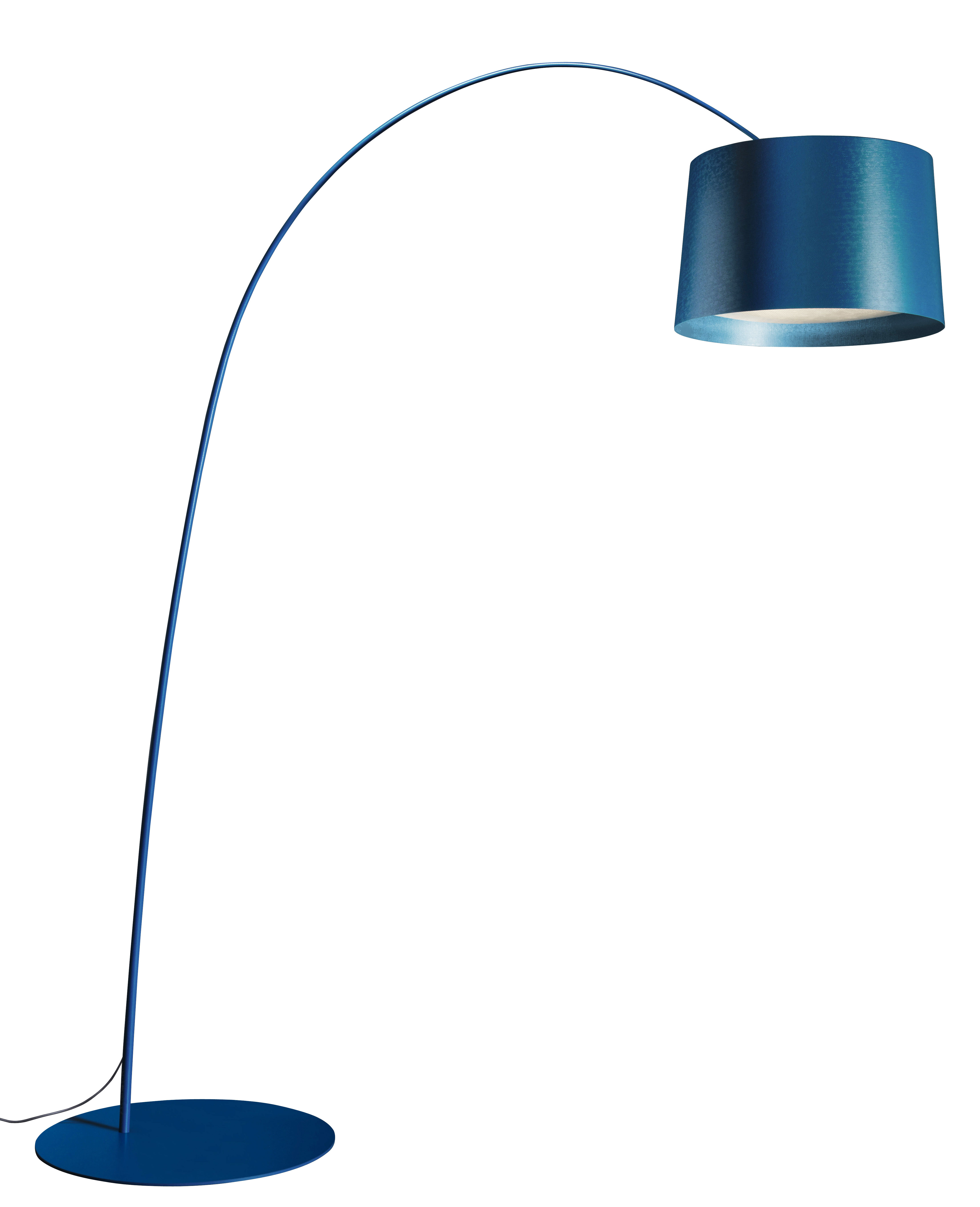 Lighting - Floor lamps - Twiggy Floor lamp - LED by Foscarini - Blue - Composite material, Fibreglass, Varnished metal