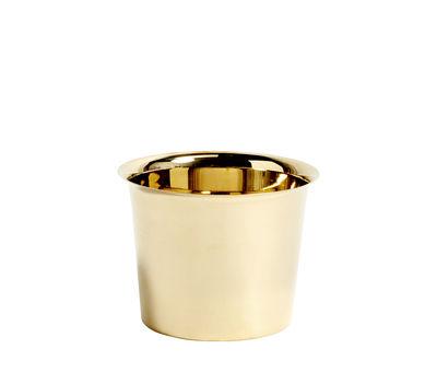 Decoration - Flower Pots & House Plants - Botanical Medium Flowerpot - /Ø13.5 cm - Brass by Hay - Pot / Gold - Brass