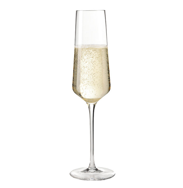 Arts de la table - Verres  - Flûte à champagne Puccini / 28 cl - Leonardo - Transparent - Verre Teqton
