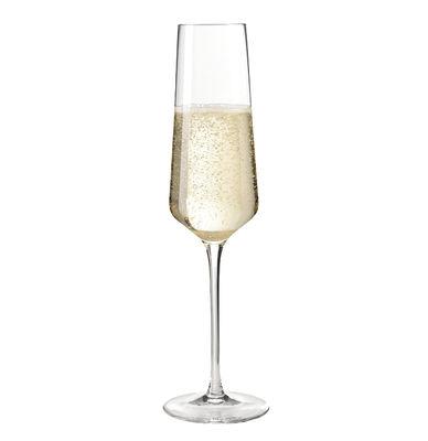 Tavola - Bicchieri  - Flute da champagne Puccini / 28 cl - Leonardo - Trasparente - Vetro Teqton
