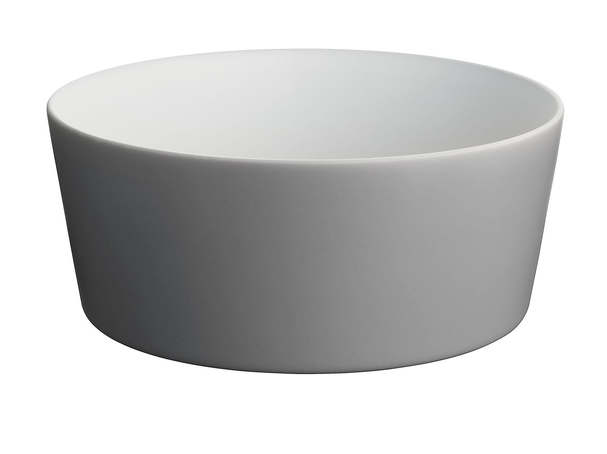 Tavola - Ciotole - Insalatiera Tonale di Alessi - Grigio scuro/interno bianco - Ceramica stoneware