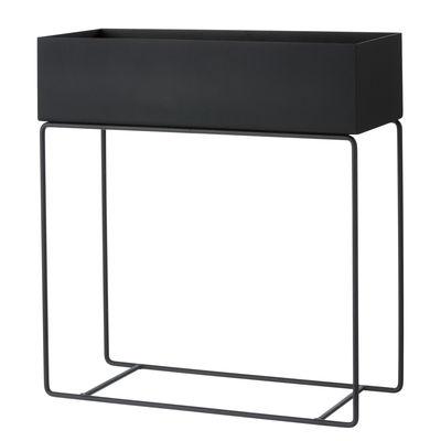 Jardinière sur pied Plant Box / L 60 x H 65 cm x Prof. 25 cm - Ferm Living noir en métal