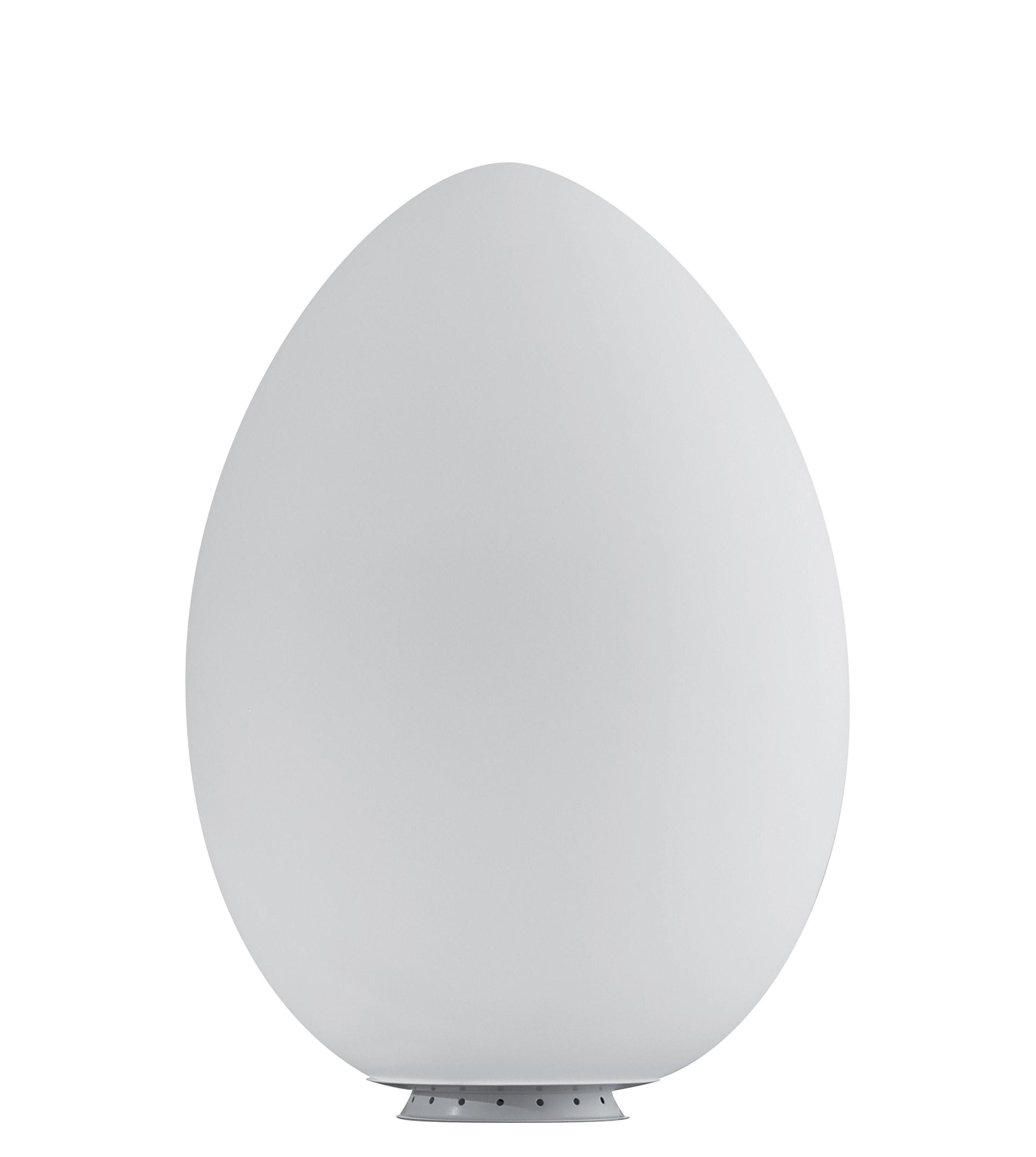 Illuminazione - Lampade da tavolo - Lampada da tavolo Uovo LED - / Vetro - H 44 cm di Fontana Arte - H 44 cm / bianco - vetro soffiato