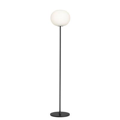 Lampadaire Glo-Ball F2 / H 175 cm - Verre soufflé bouche - Flos blanc/noir en verre