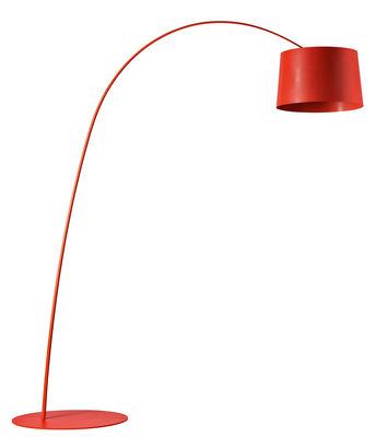 Lampadaire Twiggy LED - Foscarini rouge en métal