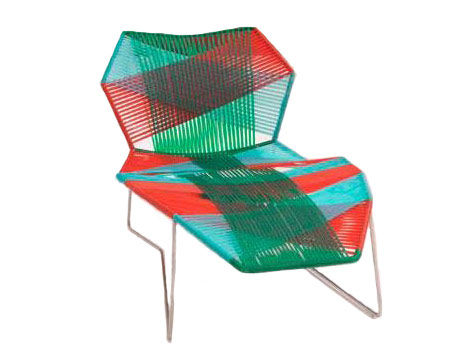Outdoor - Liegen und Hängematten - Tropicalia Liege - Moroso - Muster Jungle / Gestell Edelstahl - polymerbeschichtete Holzfaserplatte, rostfreier Stahl