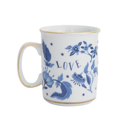 Mug Love blu / Porcelaine - Bitossi Home blanc,bleu,or en céramique