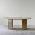 Brandy Oval table - / 220 x 100 cm - Glass by ENOstudio