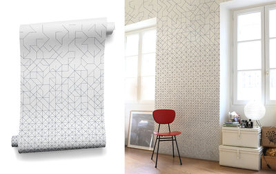 Papier Peint Modular Bien Fait Blanc Noir L 91 X H 280 Made