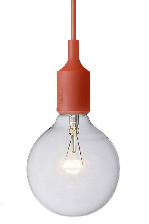 Leuchten - Pendelleuchten - E27 Pendelleuchte - Muuto - Rot - Silikon