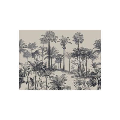 Tableware - Napkins & Tablecloths - Tresors Placemat - / Vinyl by Beaumont - Palmiers no. 2 / Black & White - Vinal