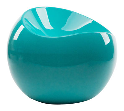 Furniture - Teen furniture - Ball Chair Pouf by XL Boom - Turquoise - Recycled lacquered ABS