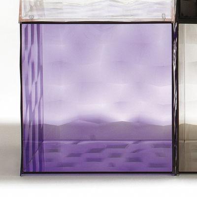 Rangement Optic sans porte - Kartell violet transparent en matière plastique